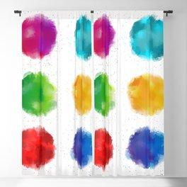 Colorful watercolor splatters Blackout Curtain