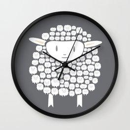 Baa baa White Sheep Wall Clock