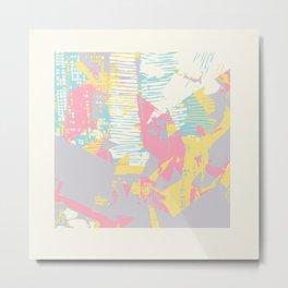 Futuristic Pastel Cityscape Metal Print