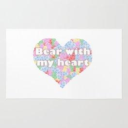 Bear with my heart Rug
