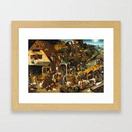 Pieter Bruegel the Elder Netherlandish Proverbs Painting Framed Art Print