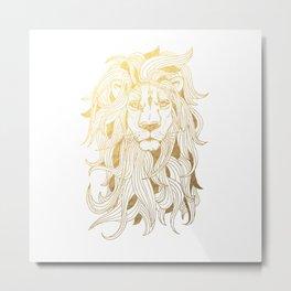 Golden Lion Metal Print