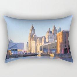 Albert Dock And the 3 Graces Rectangular Pillow
