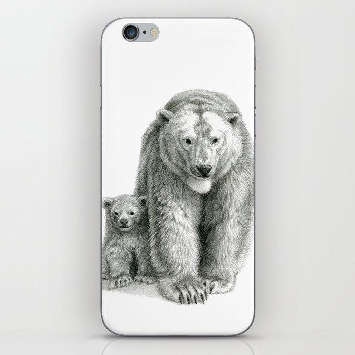 Polar bear and cub SK041 iPhone Skin