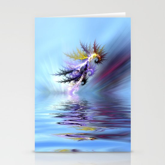 Electrified Seahorse Stationery Cards