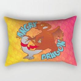 Angry Dragon Rectangular Pillow