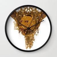 pitbull Wall Clocks featuring Pitbull by Tshirt-Factory