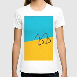 yellow blue pool T-shirt
