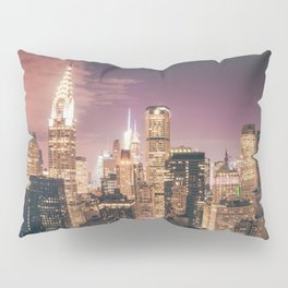 New York City - Chrysler Building Lights Pillow Sham