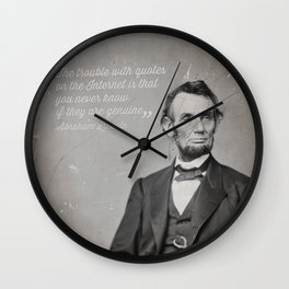 Abraham Lincoln Quote Wall Clock