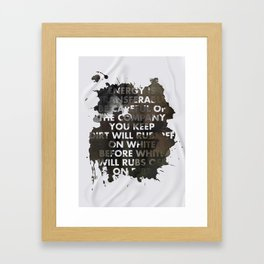 Energy Is Transferable Framed Art Print