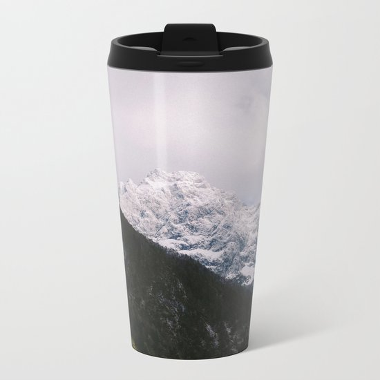 Contrast Mountains Metal Travel Mug