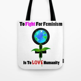 Global Feminism White Tote Bag