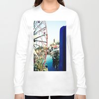 ferris wheel Long Sleeve T-shirts featuring Ferris Wheel by Kim Ramage