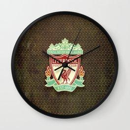 FC Liverpool metal background Wall Clock