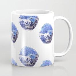 Hedgehog Hotub #2 Blue Willow Coffee Mug