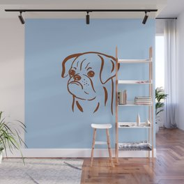 Petit Brabancon (Blue and Brown) Wall Mural