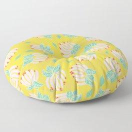 Blush Bloom Peony Lemon Floor Pillow