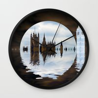 politics Wall Clocks featuring Manipulated Politics by Shalisa Photography