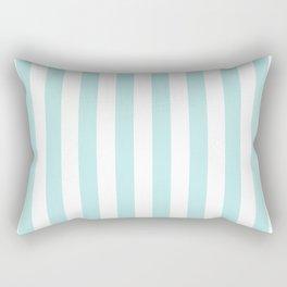 Striped- Turquoise vertikal stripes on white- Maritime Summer Beach Rectangular Pillow