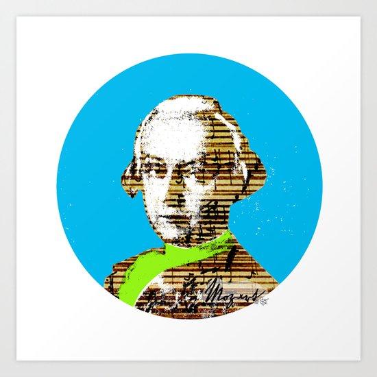 Mozart Kugel Blue Art Print