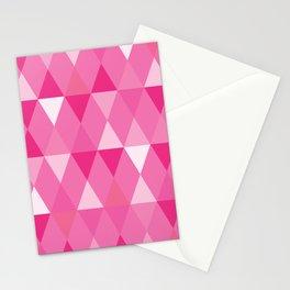 Harlequin Print Pinks Stationery Cards