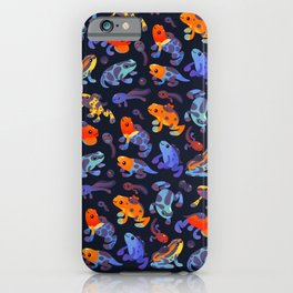 Poison dart frogs - dark iPhone Case