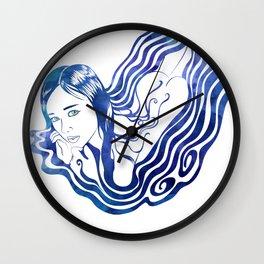 Water Nymph IX Wall Clock