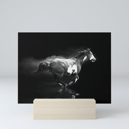 Galloping Pinto Horse Mini Art Print