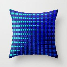 Blue in Shadows Throw Pillow