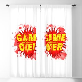 Game Over Cartoon Comic Explosion Blackout Curtain