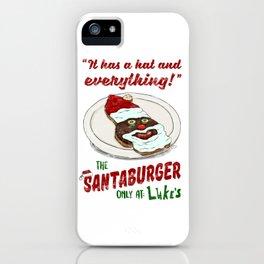 Santa Burger iPhone Case