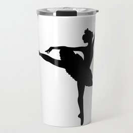 Ballerina silhouette (black) Travel Mug