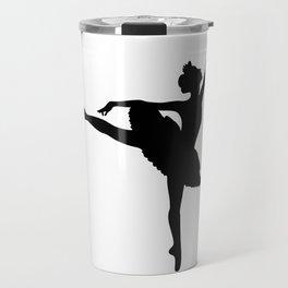 Ballerina silhouette (black) Travel Mug