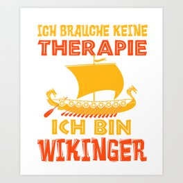 Viking Therapy Nordmann Valhalla Gift Art Print