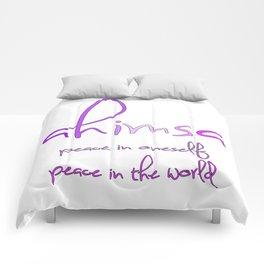 AHIMSA peace in oneself peace in the world Comforters