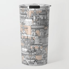 Paris toile sugar pink Travel Mug