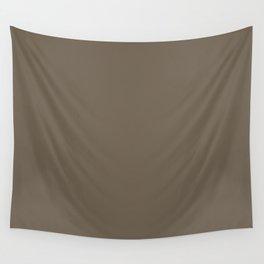 Milk Chocolate Brownies Brown Solid Color Parable to Benjamin Moore Northwood Brown 1000 Wall Tapestry