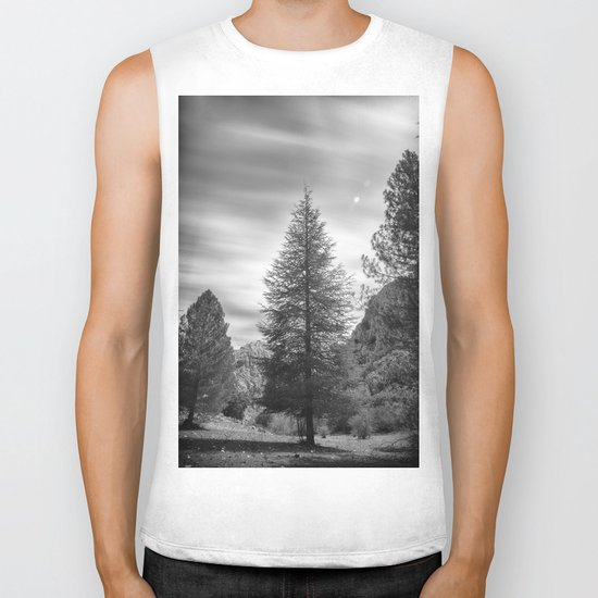 """""""Looking for the sky"""" Into the woods... BW Biker Tank"""