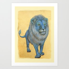 The Wise Lion Art Print
