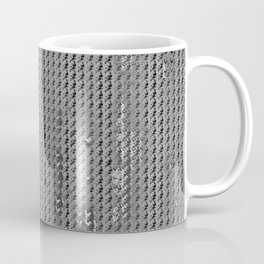 Wash out faux burlap-Gray Coffee Mug