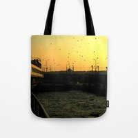 istanbul Tote Bags featuring Istanbul by habish