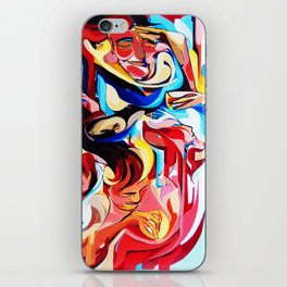 Expressive Abstract People Composition painting iPhone Skin