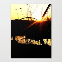 Sunset on the farm Canvas Print