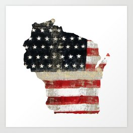 WISCONSIN FLAG Art Print