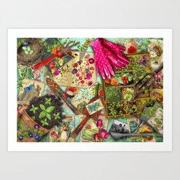 A Vintage Garden Art Print