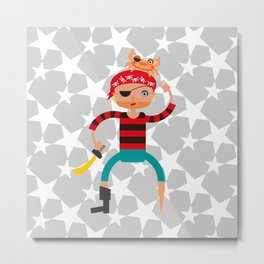 Ahoy pirate! Metal Print