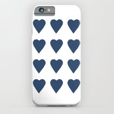 16 Hearts Navy iPhone 6s Slim Case