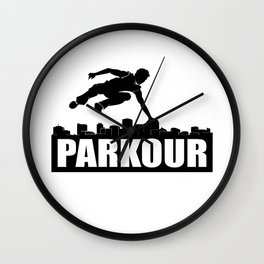 Parkour Gift Wall Clock