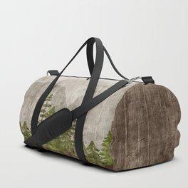 Mountain Range Woodland Forest Duffle Bag